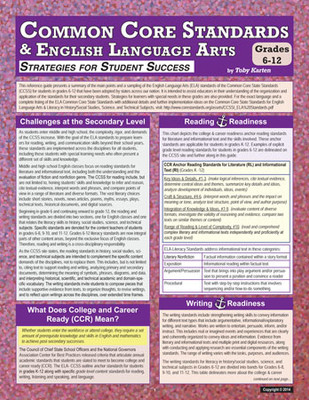Common Core Standards & English Language Arts: Strategies for Student Success (Grades 6-12)