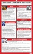 Classroom Emergency Procedures, Classroom (Lg) Size
