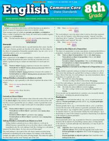 English Common Core State Standards, 8th Grade