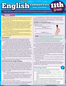 English Common Core State Standards, 11th Grade