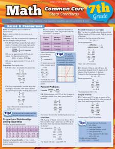 Math Common Core State Standards: 7th Grade