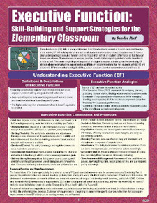 Executive Function: Skill-Building Support Strategies for the Elementary Classroom, cover