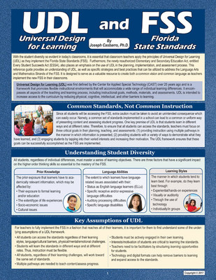 Universal Design For Learning Udl And The Florida State Standards
