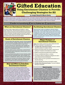 Gifted Education Using Enrichment Clusters to Provide Challenging Strategies for All