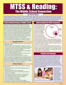 MTSS & Reading: The Middle School Connection