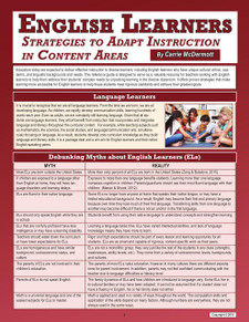 English Learners: Strategies to Adapt Instruction in Content Areas