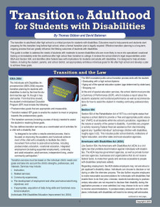 Transition to Adulthood for Students with Disabilities
