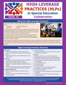 High-Leverage Practices HLPs in Special Education Guide #1