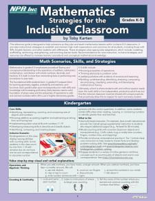 Mathematics Strategies for the Inclusive Classroom (K-5)
