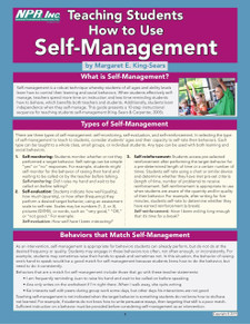 Teaching Students How to Use Self-Management