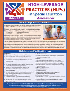 High-Leverage Practices (HLPs) in Special Education: Guide #2 - Assessment (HLP2)