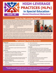 High-Leverage Practices (HLPs) in Special Education: Guide #3 - Social/Emotional/Behavioral (HLP3)