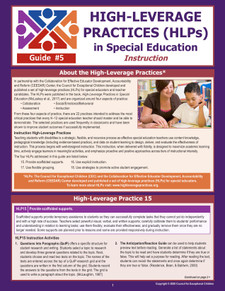 High-Leverage Practices (HLPs) in Special Education: Guide #5 - Instruction (HLP5)