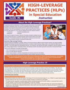 High-Leverage Practices (HLPs) in Special Education: Guide #6 - Instruction