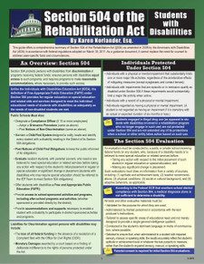 Section 504 of the Rehabilitation Act 2nd Edition Cover