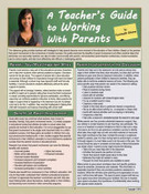 A Teacher's Guide to Working With Parents Laminated Guide