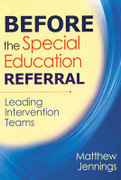 Before the Special Education Referral: Leading Intervention Teams