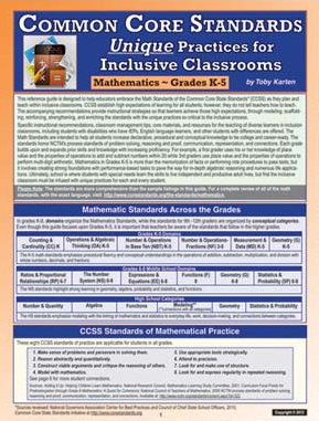Common Core Standards: Unique Practices for Inclusive Classrooms - Mathematics