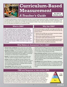Curriculum-Based Measurement: A Teacher's Guide