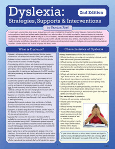 Dyslexia: Strategies, Supports, Interventions