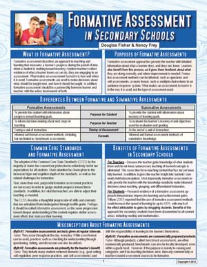 Formative Assessment Secondary Schools