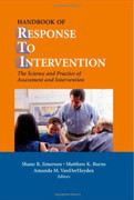 Handbook of Response to Intervention: