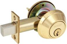 Schlage  B660 Single Cylinder Deadlock Bright Brass