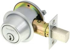 Falcon D241 P 626 Single Cylider Deadbolt-Satin Chrome
