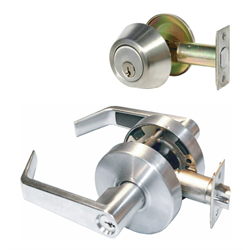 Grade 2 Combination Entry Lever and Single Cylinder Dead Bolt -US 26D