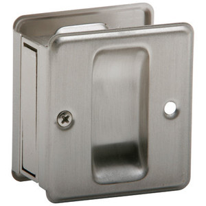 Ives-991B-619- Sliding Door Pull- Satin Nickel Finish