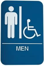 DON-JO HS-9070-01 Men's / Handicap ADA Sign Blue
