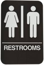 DON-JO HS-9060-03 Rest Room Sign Brown