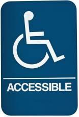 DON-JO HS-9070-06  Handicap Accessible Sign Blue