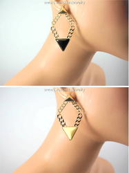 Triangle Chain Reaction Earrings