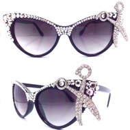 Shear Genius Crystal Cateye Glasses