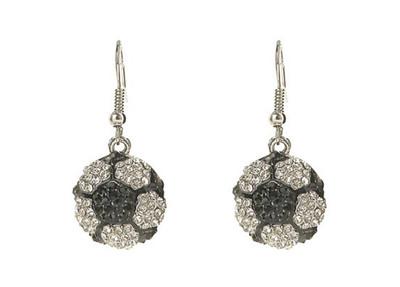 Crystal Soccer Ball Earrings