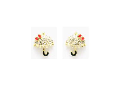 Gold Umbrella Bow Earrings