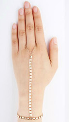 Polished Link Diva Hand Chain 215