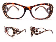 Leopard Multi on Brown Frame