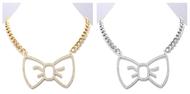 Hello Kitty Rhinestone Bow Necklace