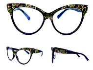 Half and Half Cateye Reading Glasses - Camo