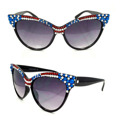Half and Half: Red, White, and Blue Edition Sunglasses!!!