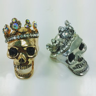 Skull King Crown Ring