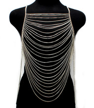 Multi layered Body Chain-Silver