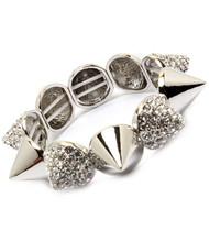 Crystal Spike Bracelet-Silver