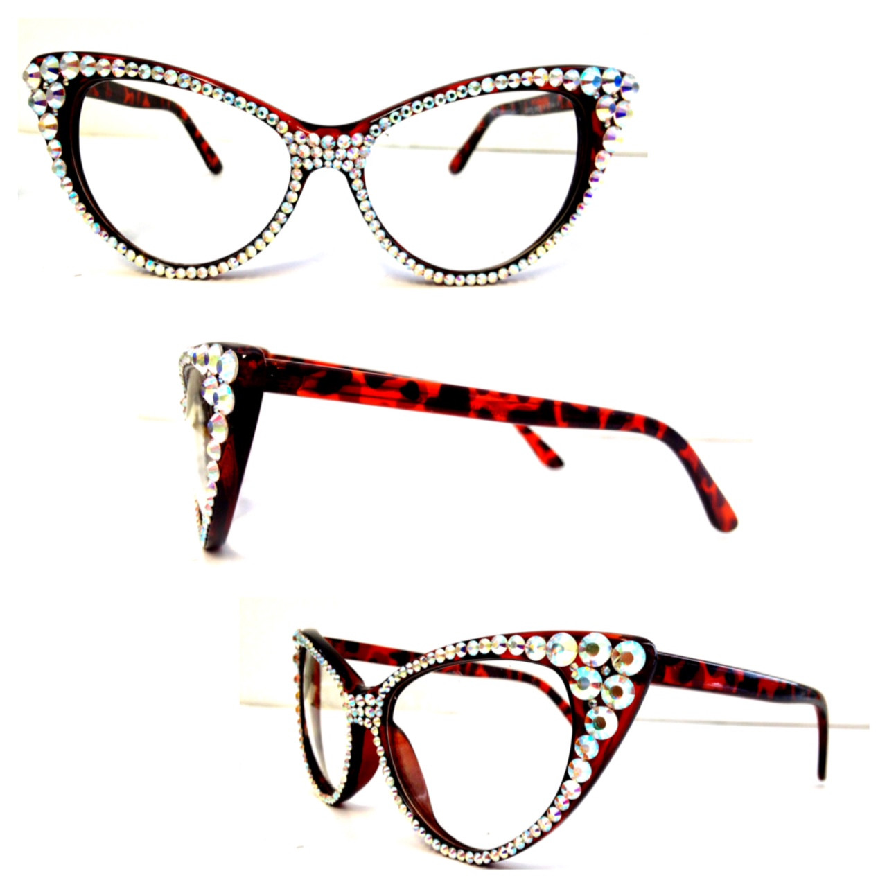 4fc1cb1bb0fe swarovski cat eye glasses - Image 1