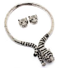 Crawling Tiger Choker-Silver