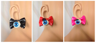 Pretty Eye Bow Tie Stud Earring