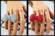 Crystal Bow Ring