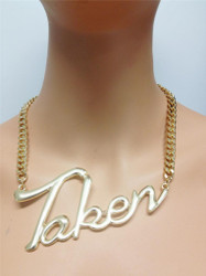 """Taken"" Statement Necklace"